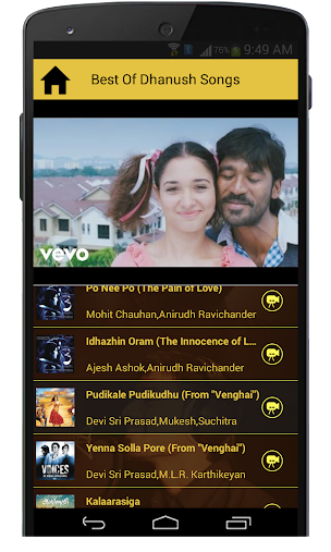 Best of Dhanush Tamil Songs APK