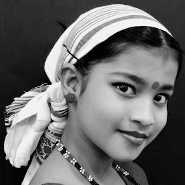 PORTRAIT by SANGEETA MENA  - Black & White Portraits & People