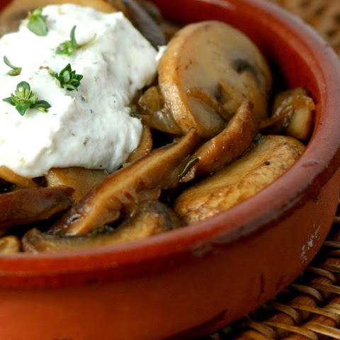 Barcelona's Mushrooms with Herbed Goat Cheese