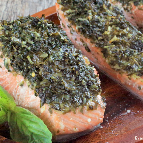 Basil Parmesan Roasted Salmon