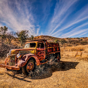 Past Time by Jim Moon - Transportation Automobiles ( ruby, rio rico, dump truck, abandonded, arizona, ghost town, rusty, old truck, rustic, photography, abandoned )