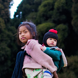 Carrying  by Uttam Das - Babies & Children Children Candids ( colors, emotions, children, candid, street photography,  )