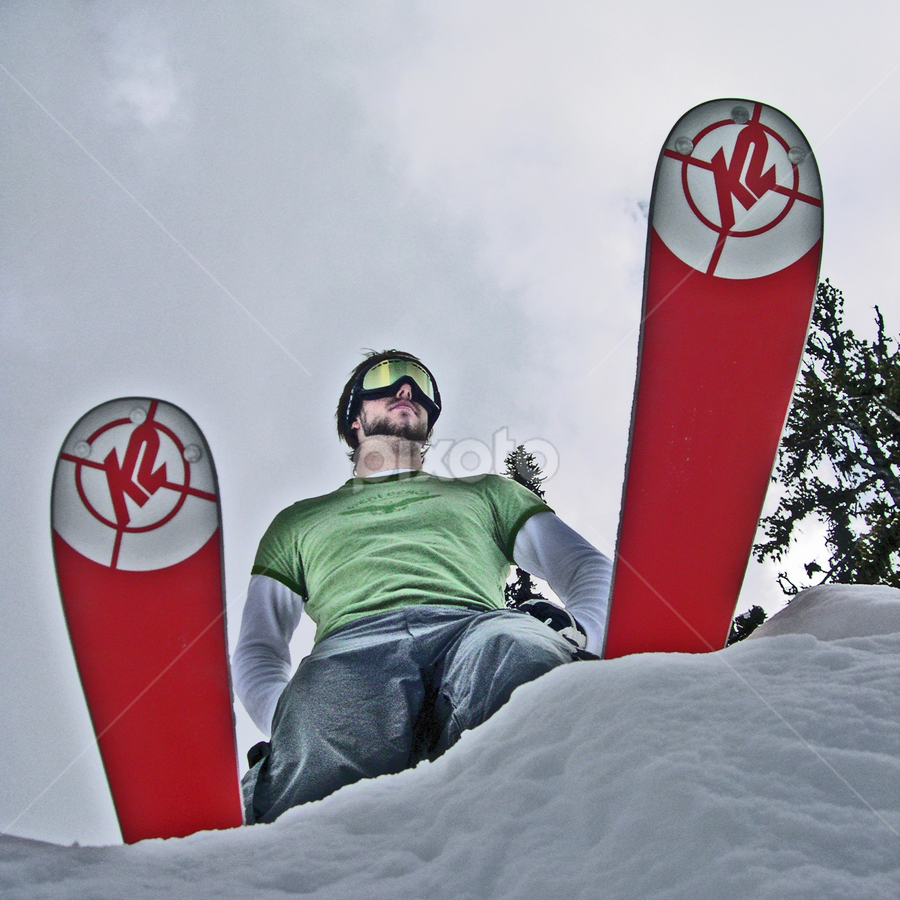 TJ by David Millard - People Portraits of Men ( skiing, whistler, canada, snow, sport, blackcomb, tj, man, portrait, skis )