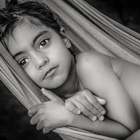 Day dreaming by Nathalie Gemy - Black & White Portraits & People