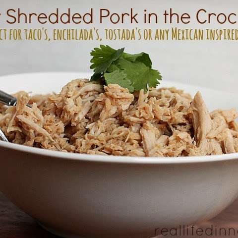 Easy Shredded Pork in the Crock Pot