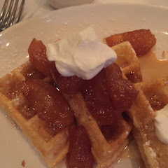 Fantastic GF Waffles with homemade whipped cream!