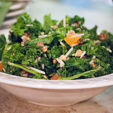 Kale Salad with Quinoa, Parmesan Cheese and Sunflower Seeds