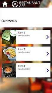 Demo Restaurant App - screenshot