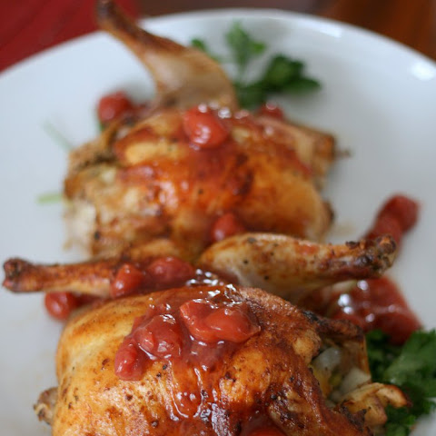 Cornish Hens with Cherry Sauce