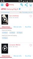 Screenshot of AMC Theatres