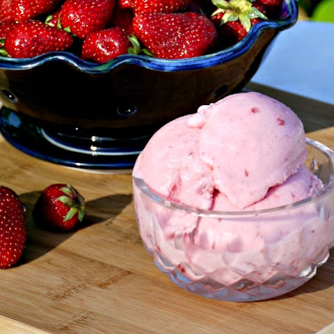 Best Homemade Fresh Strawberry Ice Cream Ever!