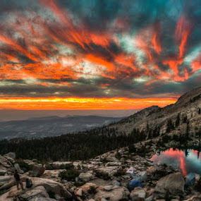 Smith Lake by Walter Hsiao - Landscapes Mountains & Hills ( california, desolation wilderness, smith lake )