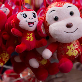 Year Of The Monkey by Janet Marsh - Artistic Objects Toys ( decoration, color, chinatown, toys,  )