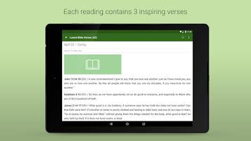 Screenshot of Daily Bible Verses