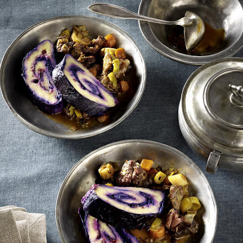 Oxtail Stew with Cabbage and Potato Roulade