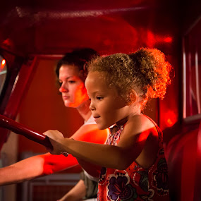 Young Firetruck driver by Joseph Belcher - People Family ( portsmouth, children's museum )