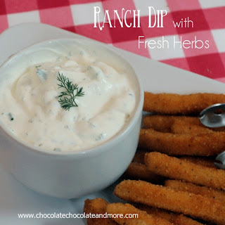 Ranch Dip with Fresh Herbs #ChickenFryTime