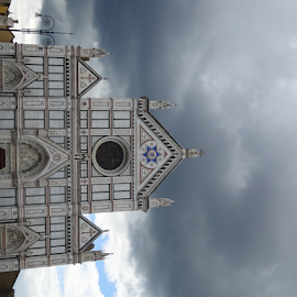 Santa Croce, Florence with a storm approaching by Brian  Boyle - Buildings & Architecture Public & Historical ( photograph, #italia, church, #brianboylephotograph, santa croce, #florence, architecture, storm, historic, photography, brianboyle, storm cloud, #brianboyle14, medieval, yukonbrianboyle )