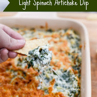 Light Spinach Artichoke Dip