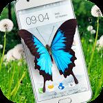 Butterfly in Phone lovely joke Icon