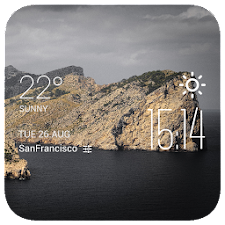The island weather widget