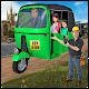 city tuk tuk auto rickshaw taxi driver 3d