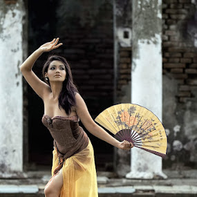 Traditional Dancer by Chandra Sugiharto - People Portraits of Women ( model, false color, conceptual, women )