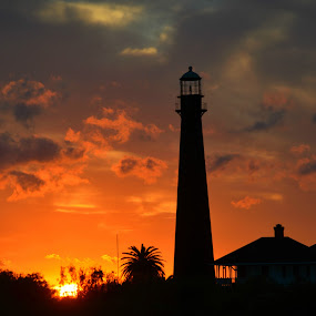 Lighthouse at sunset by Rhonda Kay - Buildings & Architecture Other Exteriors (  )