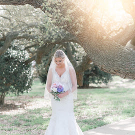 by Teena Emerson - Wedding Bride ( bride, wedding, sunglow )
