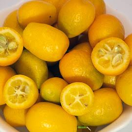very small sweet orange close up by LADOCKi Elvira - Food & Drink Fruits & Vegetables ( orange, tasty, sweet, citrus, fruits, small )