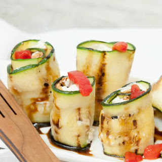Goat Cheese Stuffed Zucchini Rolls #SundaySupper