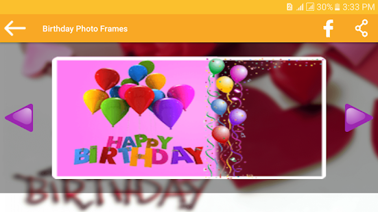 Birthday Photo Frames - screenshot