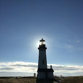 Yaquina Lighthouse, Oregon by Matt Bellmore - Buildings & Architecture Public & Historical ( inspiration, nature, lighthouse, pacific, ocean, sun )