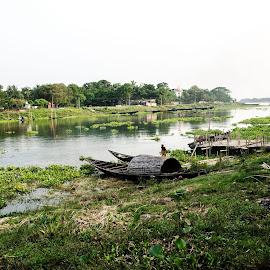 || Jalangi River (Bengali: জলজ্ঞী নদী) || Nadia || West Bengal || India ||  by Mithun Ganguly - Landscapes Travel
