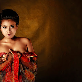 Need a Warmth From Piece of Kimono by Adiie Winata - People Fashion ( potrait, fine art, women )