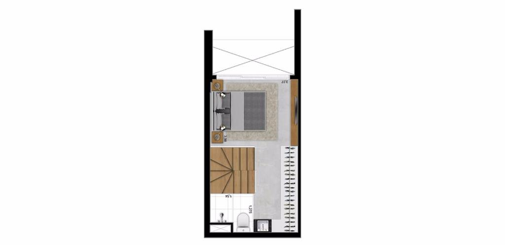 Planta Duplex Superior 45 m²
