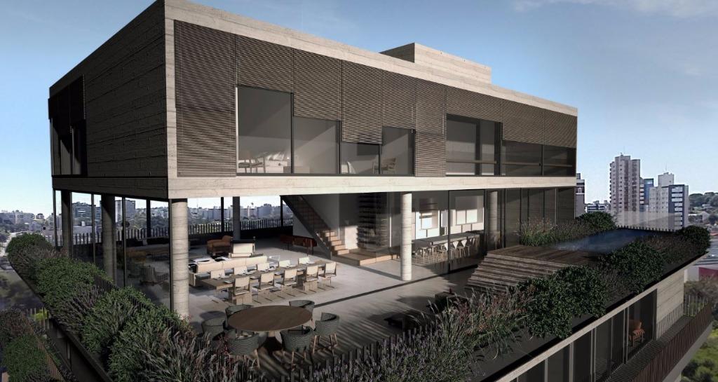 Perspectiva do Terraço da Cobertura Duplex - 840 m²