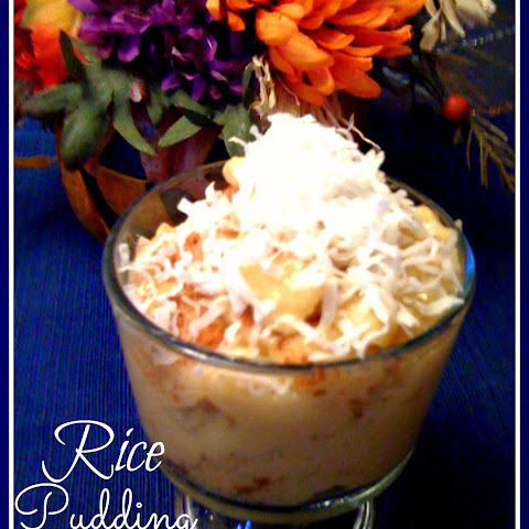 White Chocolate Rice Pudding With Dried Cherry Sauce Recipes ...