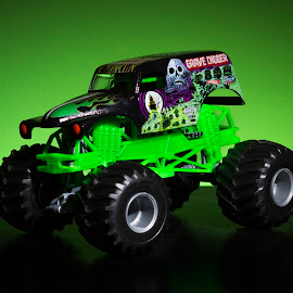 monster truck by Aaron Taylor - Artistic Objects Toys ( product, toy, truck, green, toys )