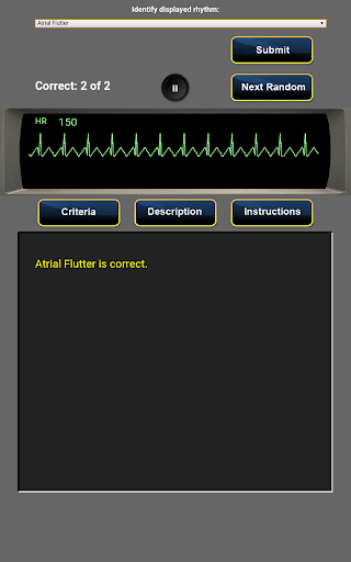 ACLS Rhythm Quiz - screenshot