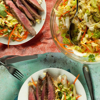 Vietnamese Flank Steak with Citrus Mint Cabbage Salad
