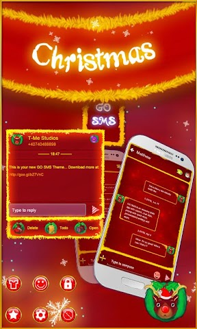 android Christmas GO SMS Screenshot 0