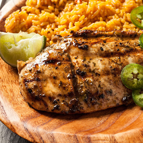 Grilled Chicken Breasts with Lime Cilantro Marinade
