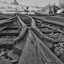 At the station. by Ken Bittancourt - Transportation Railway Tracks
