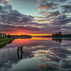 Out by the fjord in Haderslev Denmark by Kim Moeller Kjaer - Landscapes Sunsets & Sunrises