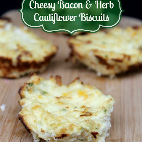 Gluten Free Cheesy Bacon & Herb Cauliflower Biscuits