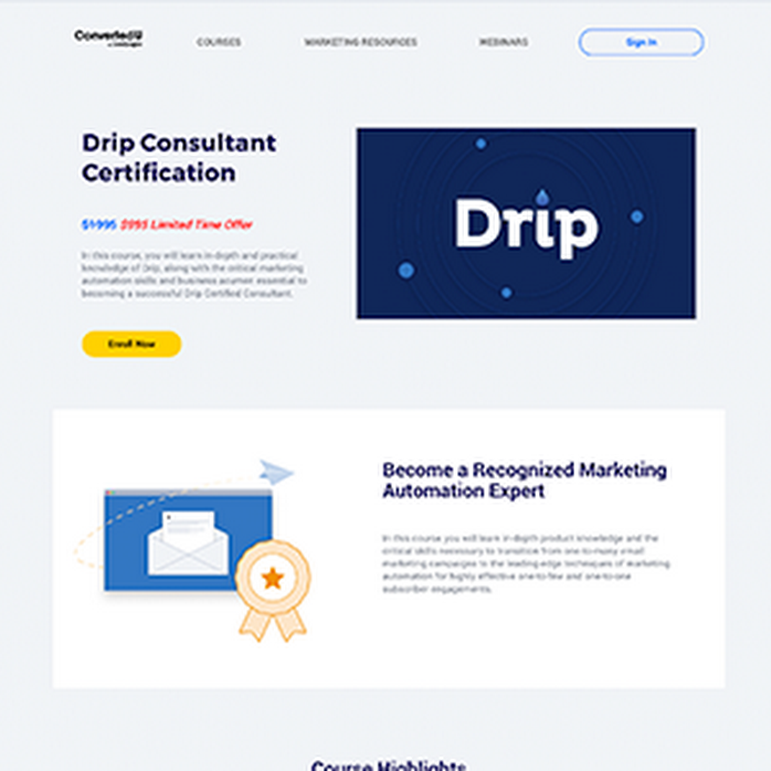 Drip Certification Leadpages Marketplace