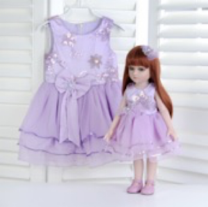 """Кукла серии """"Город Игр"""" 45 см с платьем, фиолетовый S"""