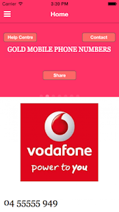 Gold Mobile Phone Numbers - screenshot
