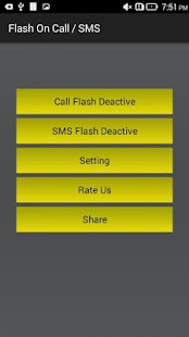 Flash on Call and SMS - screenshot